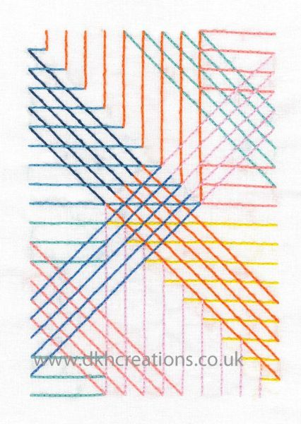 Parallel Lines Embroidery Kit